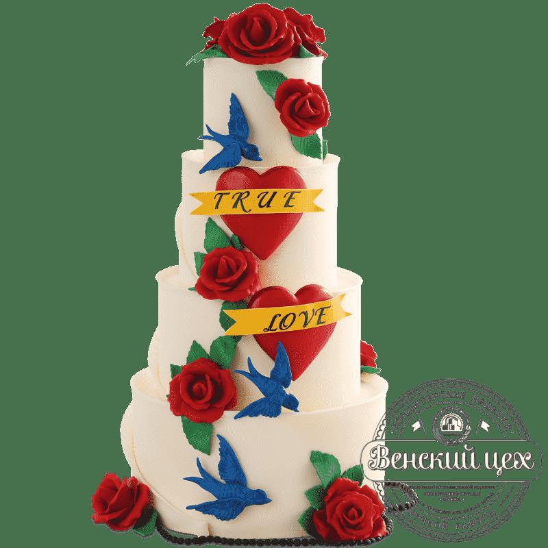 """Торт свадебный """"Рок-н-ролл"""" №430"""