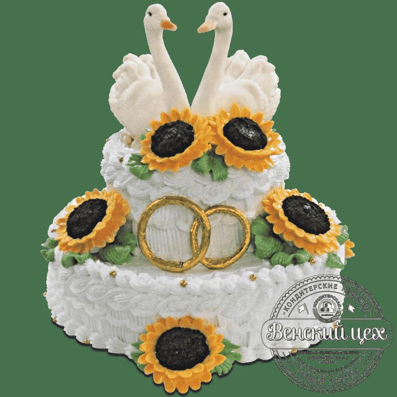 """Торт на свадьбу """"Подсолнухи"""" № 468"""