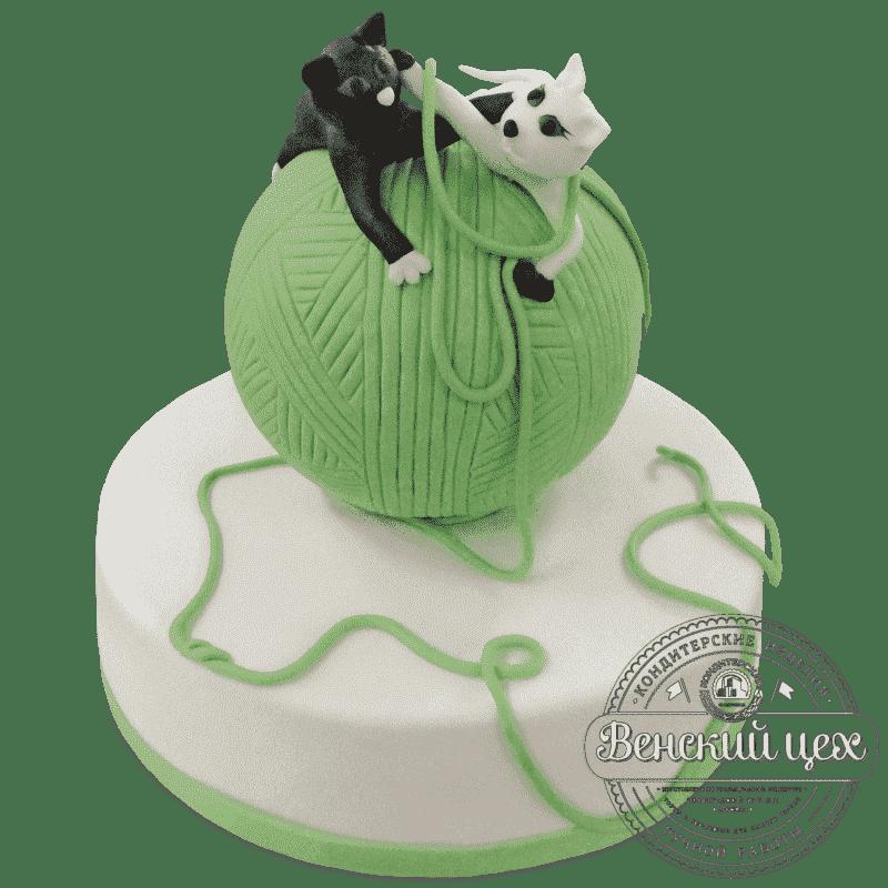 Торт на день рождения «Клубок» №482