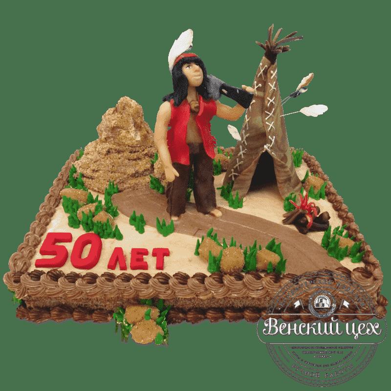 Торт на день рождения «Индеец» №484