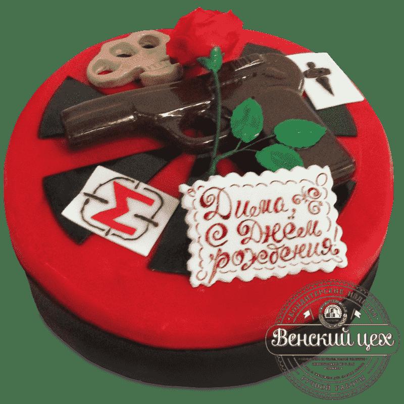 Торт на день рождения «Мафия» №485