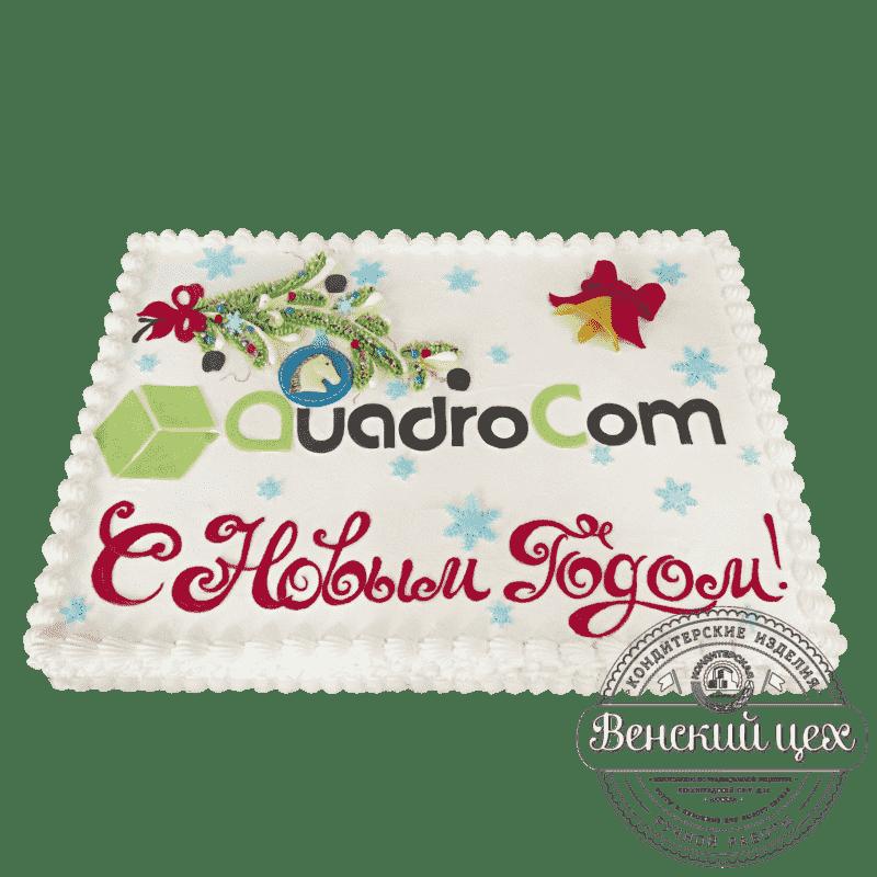 Торт на праздник «С новым годом» №492