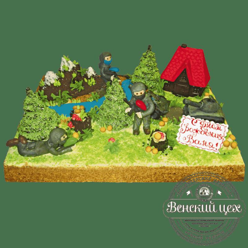 Торт на день рождения «Пограничники» №498
