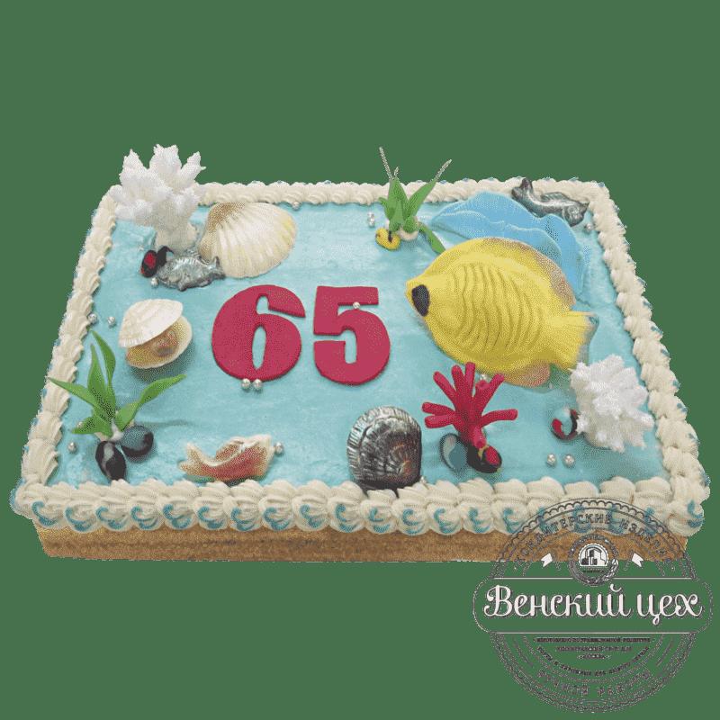 Торт на день рождения «Аквариум» №503