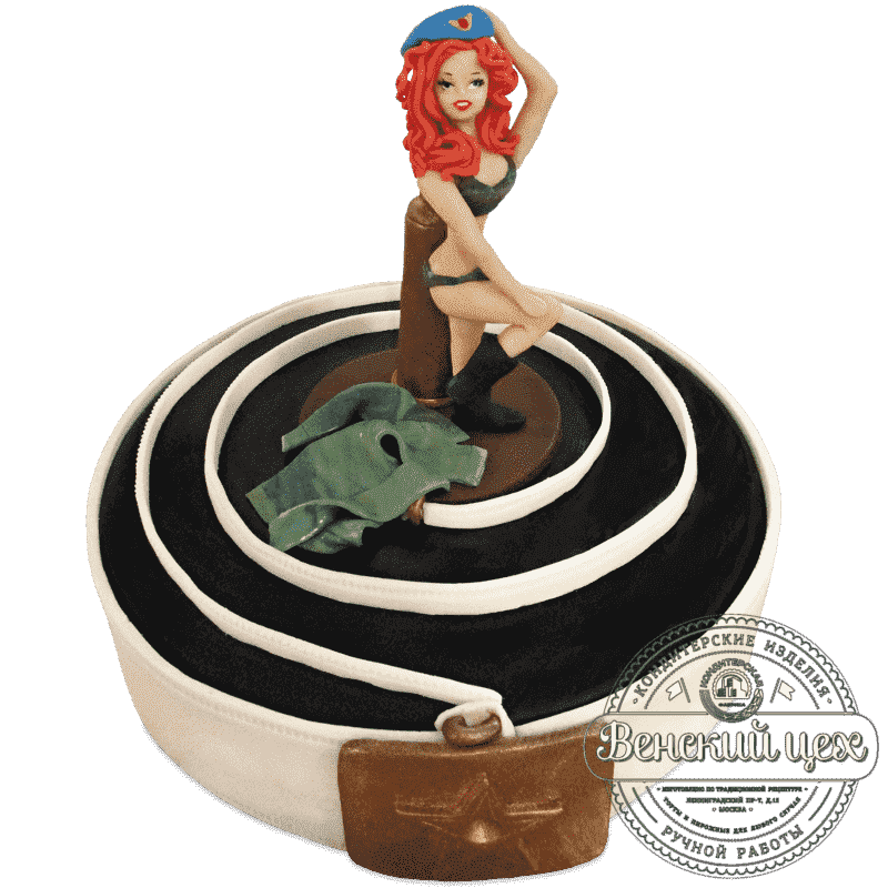 Торт на праздник «Армейский» №509