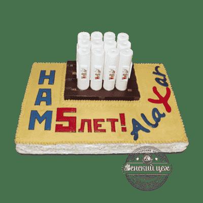 "Торт на корпоратив ""Обои"" №52"