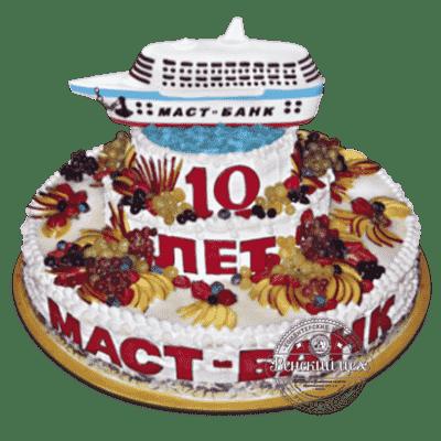 "Торт на корпоратив ""Успешное плавание"" №53"