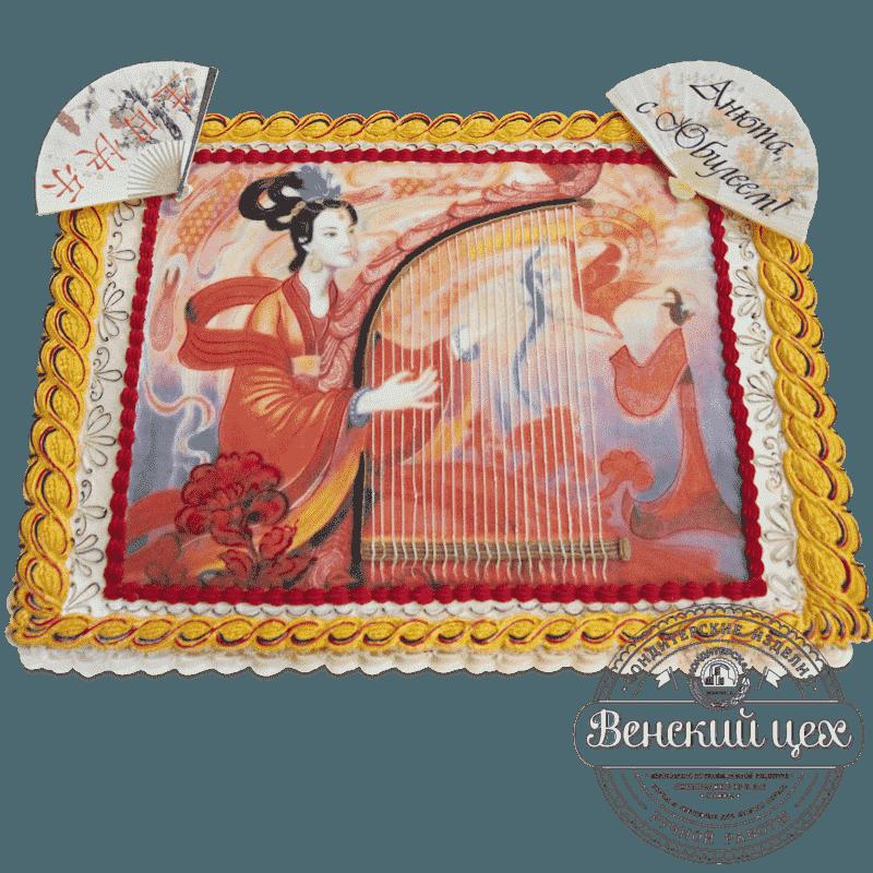 Торт на день рождения «Гейша» №530