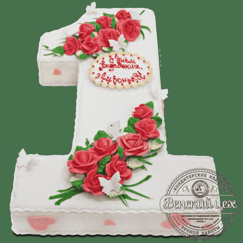 Торт детский «Розы на снегу» №531