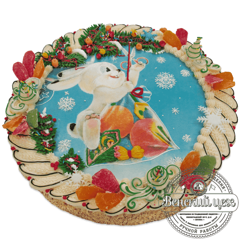 Торт на праздник «Зайчик» №535