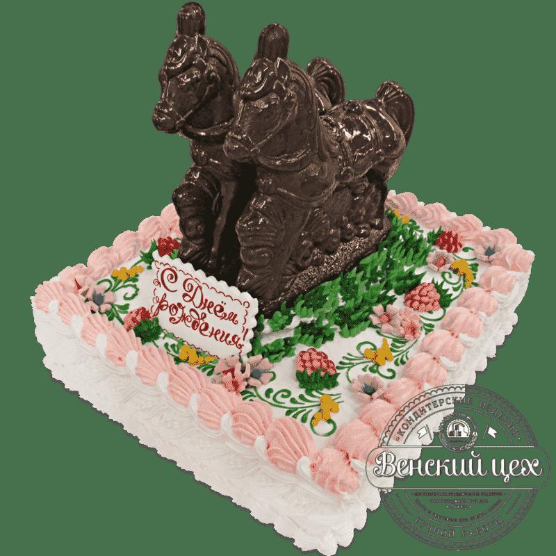 Торт детский «Упряжка» №539
