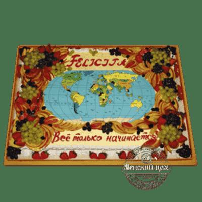 Торт на корпоратив «Карта мира» №54