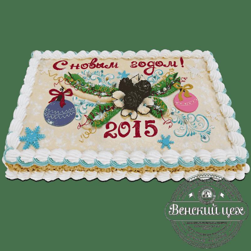 Торт на праздник «Еловая ветка» №540