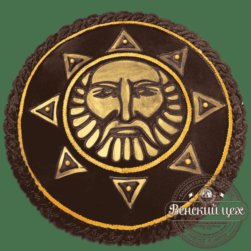 Торт корпоративный «Солнце» №545