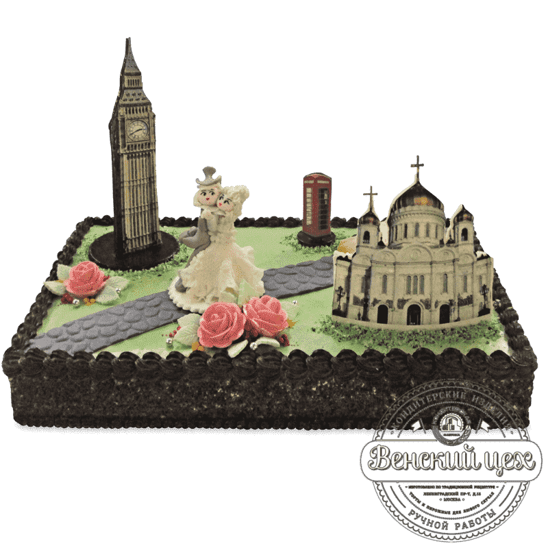 Торт свадебный «Лондон-Москва» №546