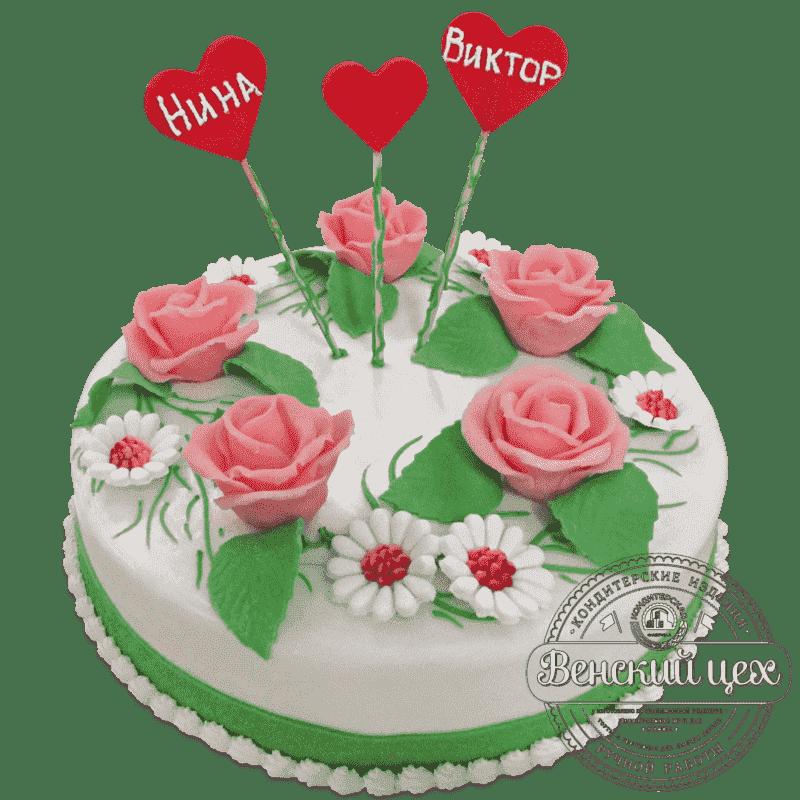 Торт свадебный «Поляна» №555