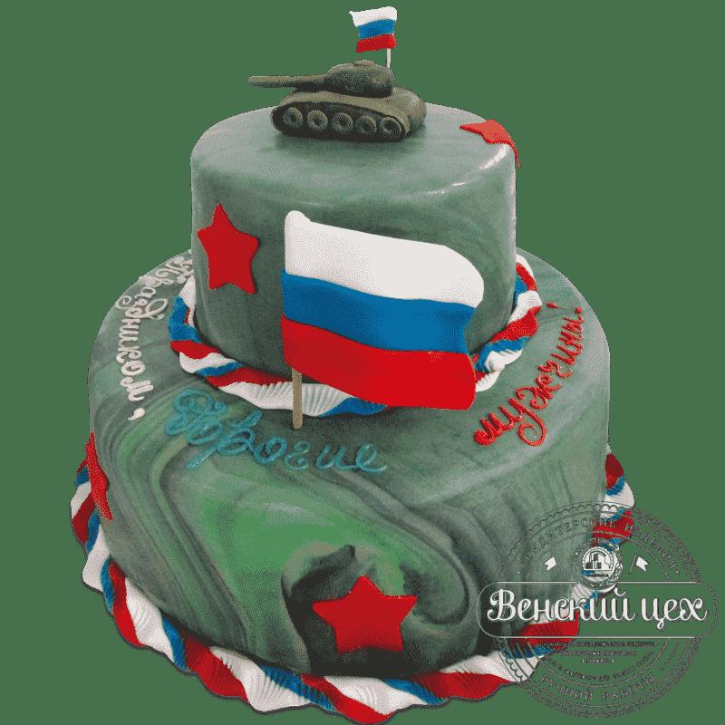 Торт на праздник «Отечество» №557