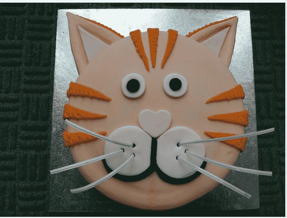"""Торт детский №569 """"Рыжий кот"""""""