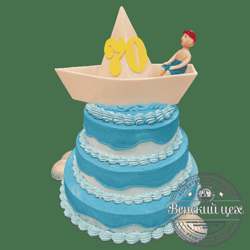 """Торт на юбилей """"Кораблик"""" №588"""