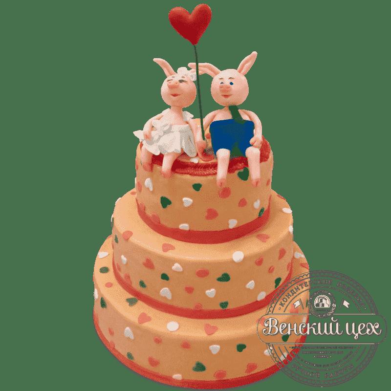 """Торт свадебный """"Поросята"""" №589"""