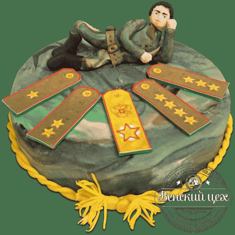 "Торт на праздник ""Генералитет"" №592"