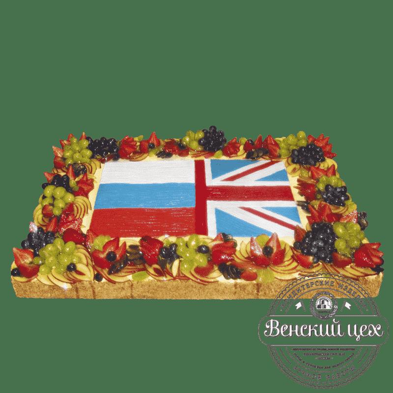 Торт на корпоратив «Флаг дружбы» №60