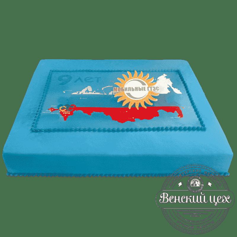 """Торт корпоративный """"Карта"""" №621"""