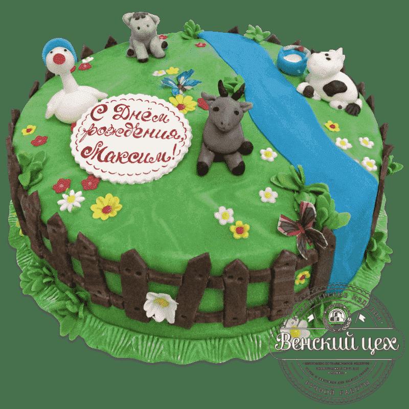 """Торт на день рождения """"Ферма"""" №623"""