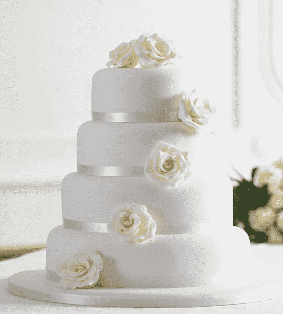 """Торт свадебный  """"Белоснежный"""" №646"""