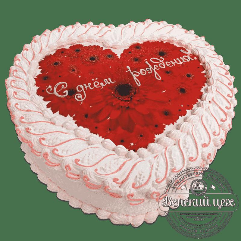 """Торт на день рождения """"Гербера"""" №656"""