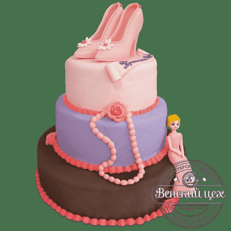 """Торт на день рождения  """"Женский"""" №661"""