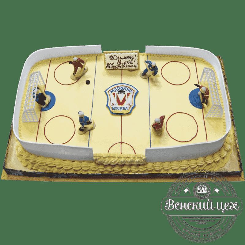 """Торт на день рождения """"Хоккейный матч"""" №71"""