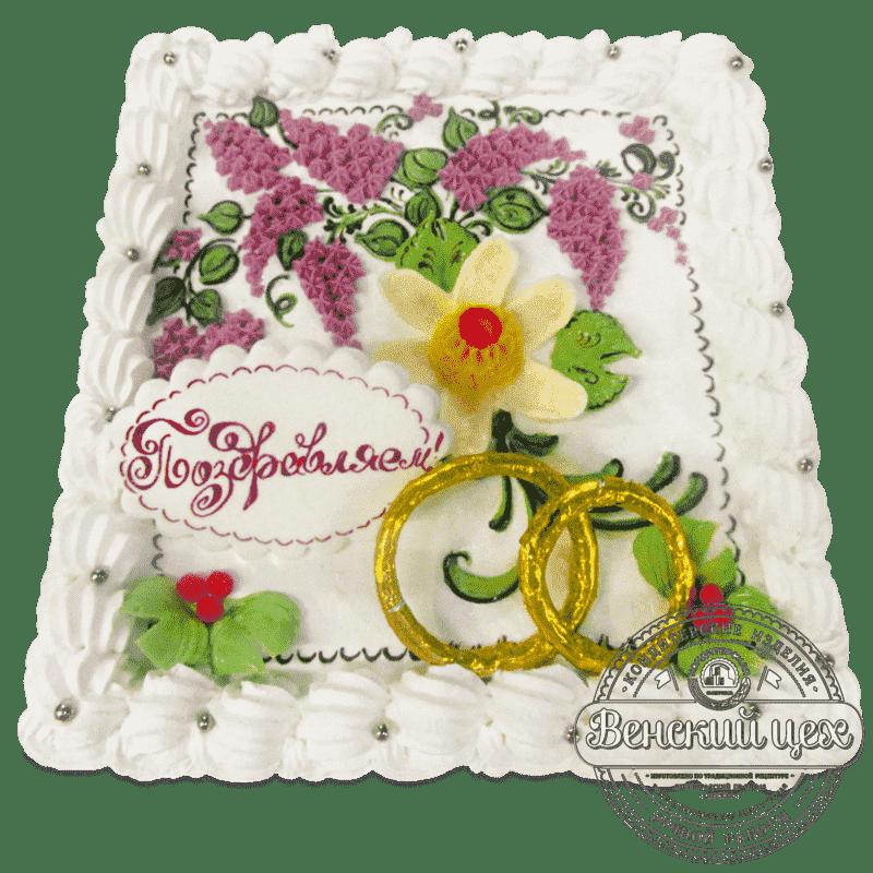 """Торт свадебный  """"Подарок на годовщину""""  №675"""