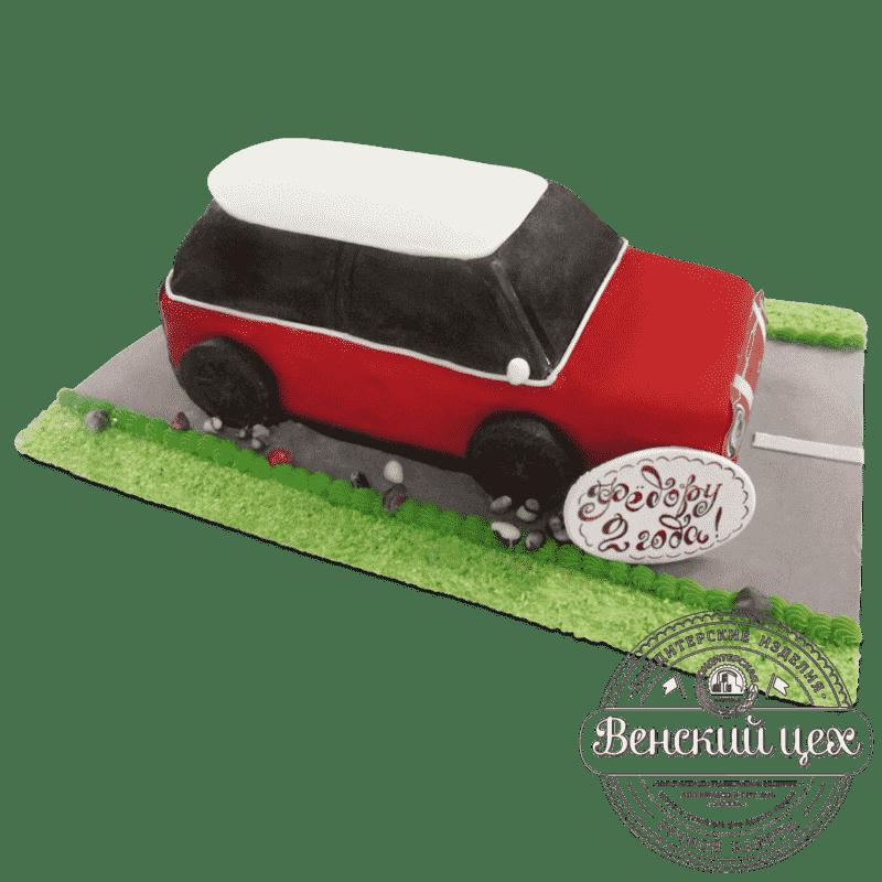 """Торт  на день рождения  """"Мини Купер""""  №680"""