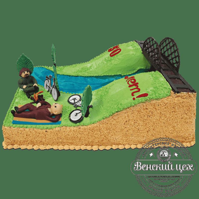 """Торт  на день рождения  """"На привале""""  №687"""