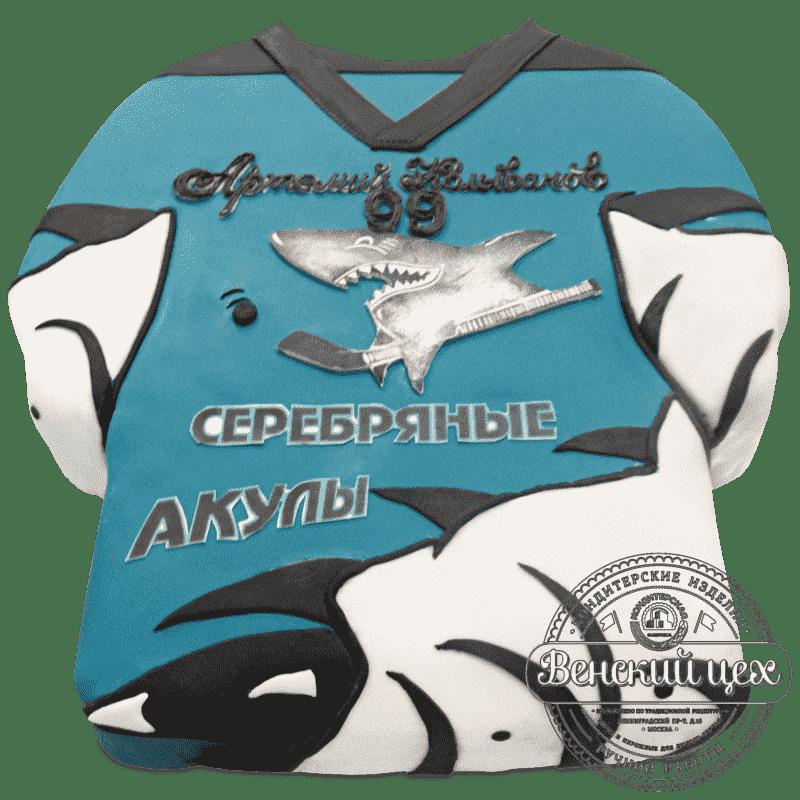 """Торт детский """"Серебряные акулы"""" №694"""