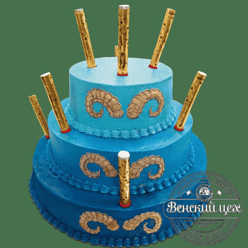 """Торт на день рождения """"Козерог"""" №696"""