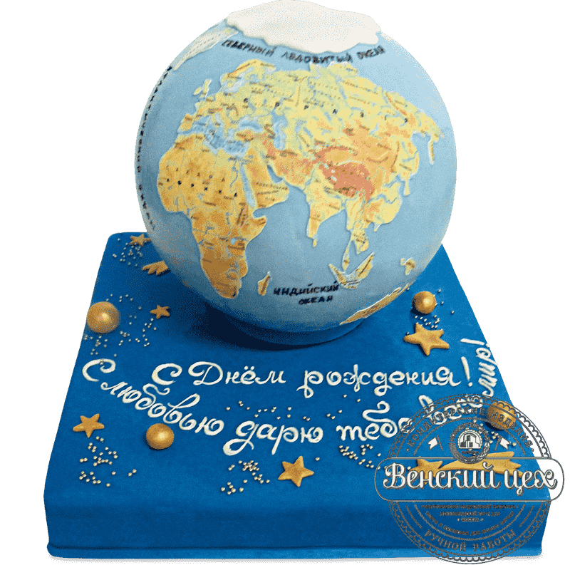 "Торт на день рождения ""Среди звезд"" №697"