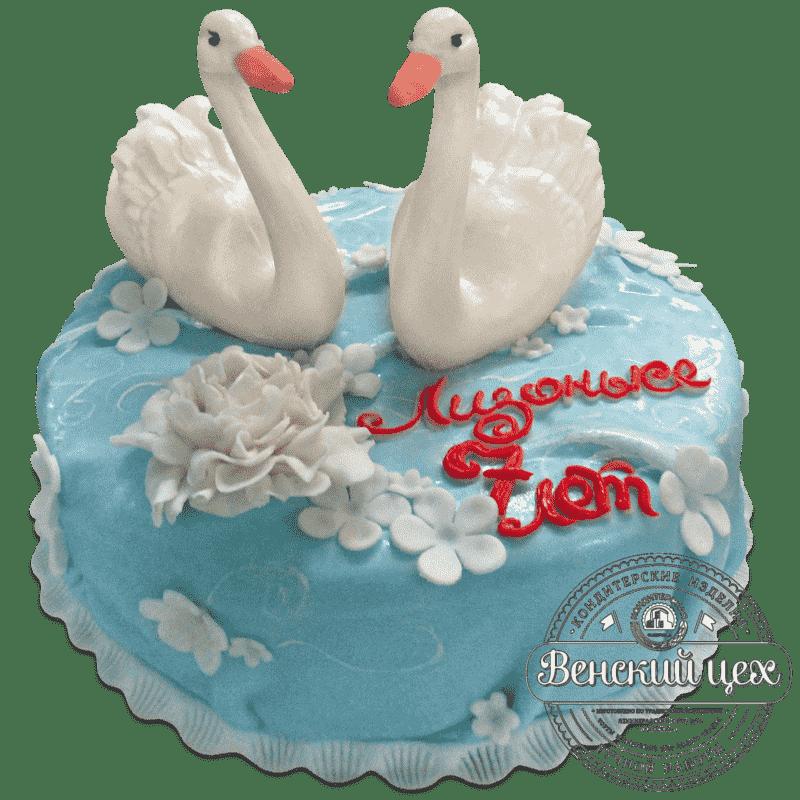 """Торт на день рождения """"Лебединое озеро"""" №714"""