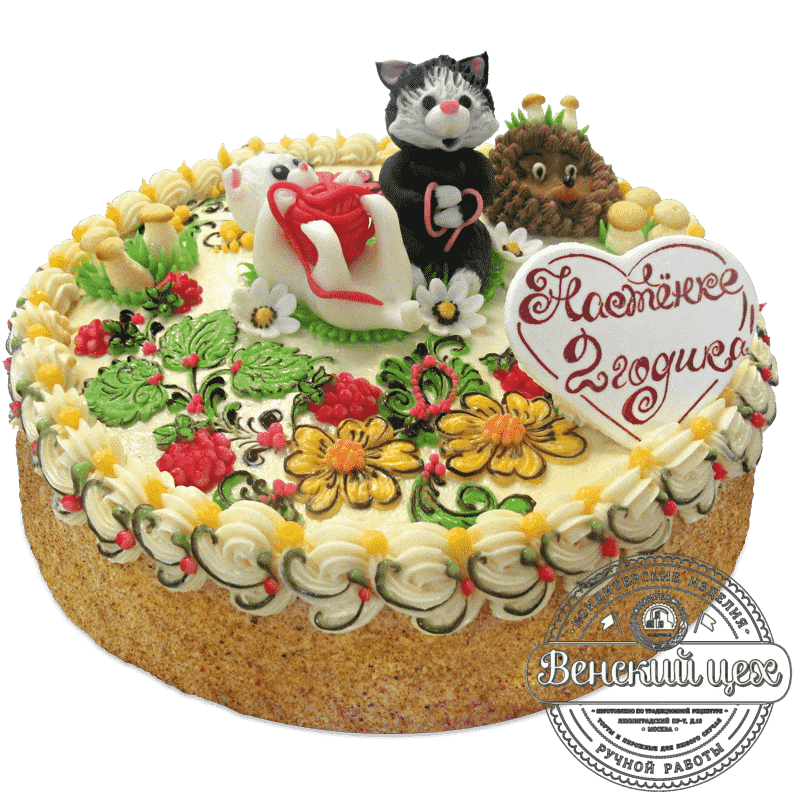 "Торт детский ""Веселые котята"" №715"