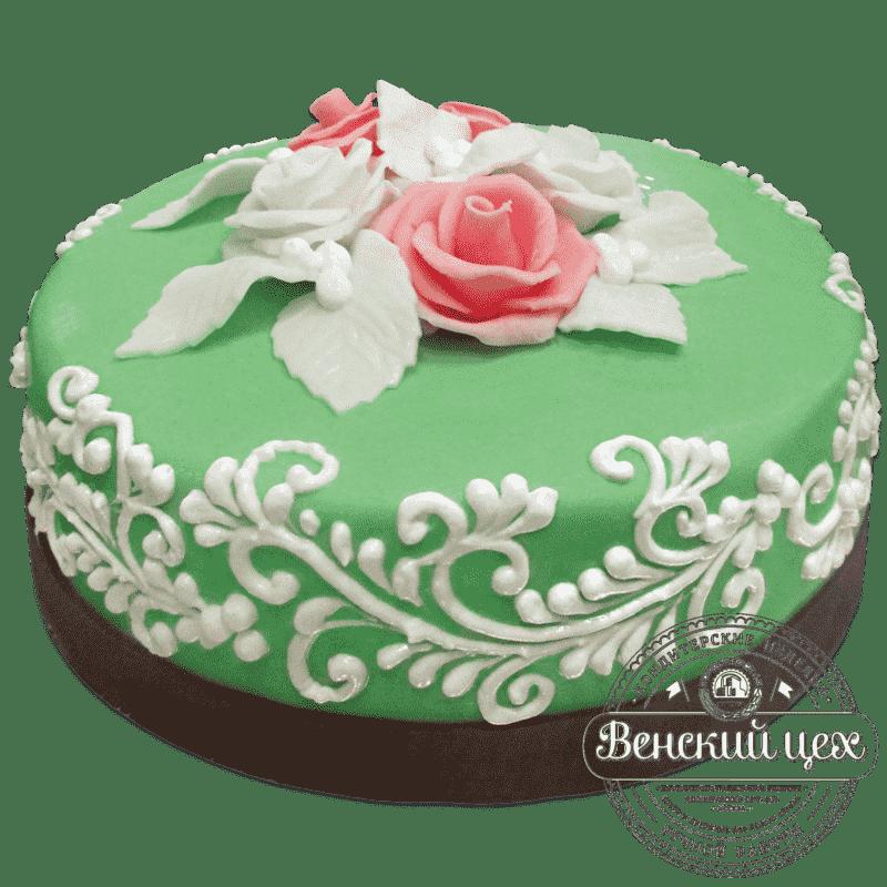 """Торт на юбилей """"Бирюза"""" №716"""