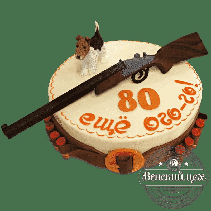 """Торт на день рождения """"Охота"""" №717"""