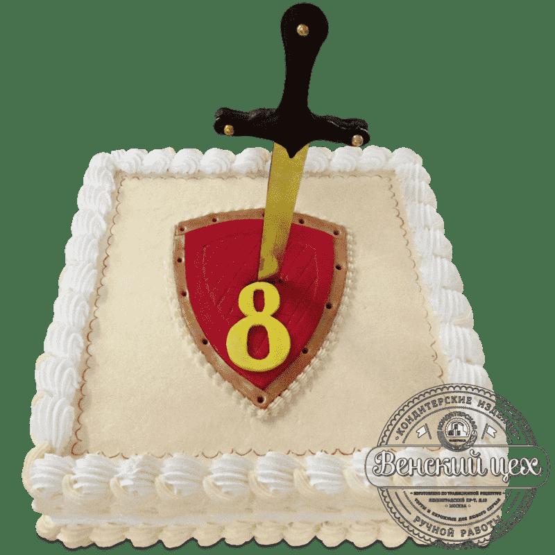 """Торт детский """"Щит и меч"""" №723"""