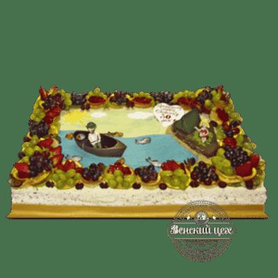 """Торт на день рождения """"На рыбалке"""" №74"""