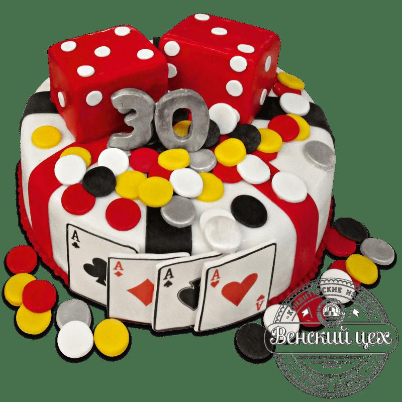 """Торт на день рождения """"Казино"""" №744"""