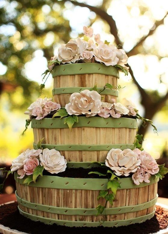 Торт свадебный №754