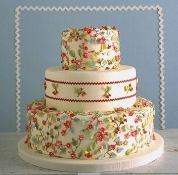 Торт свадебный №757