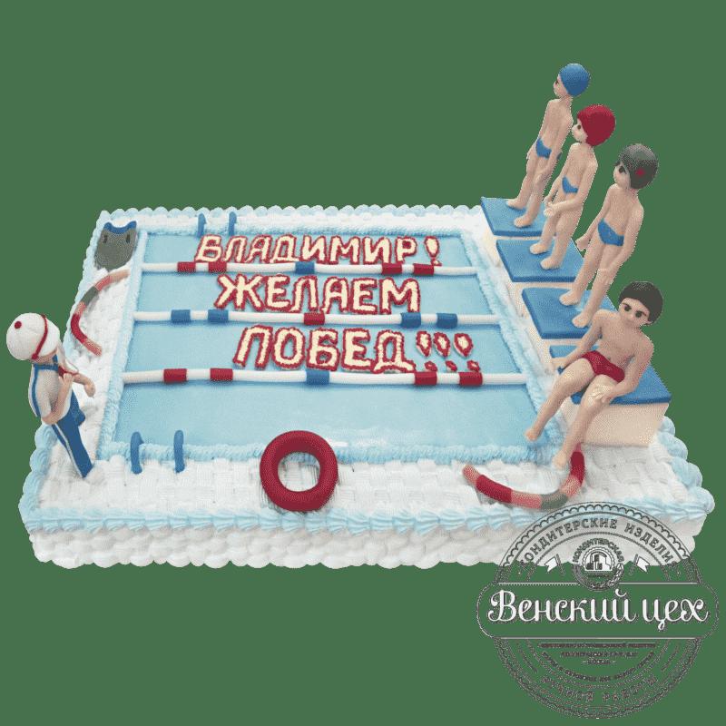 """Торт на день рождения """"Плавание"""" №82"""