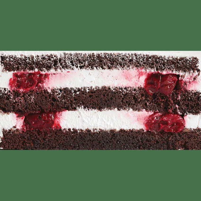 Шоколадный бисквит с кусочками вишни и взбитыми сливками #23