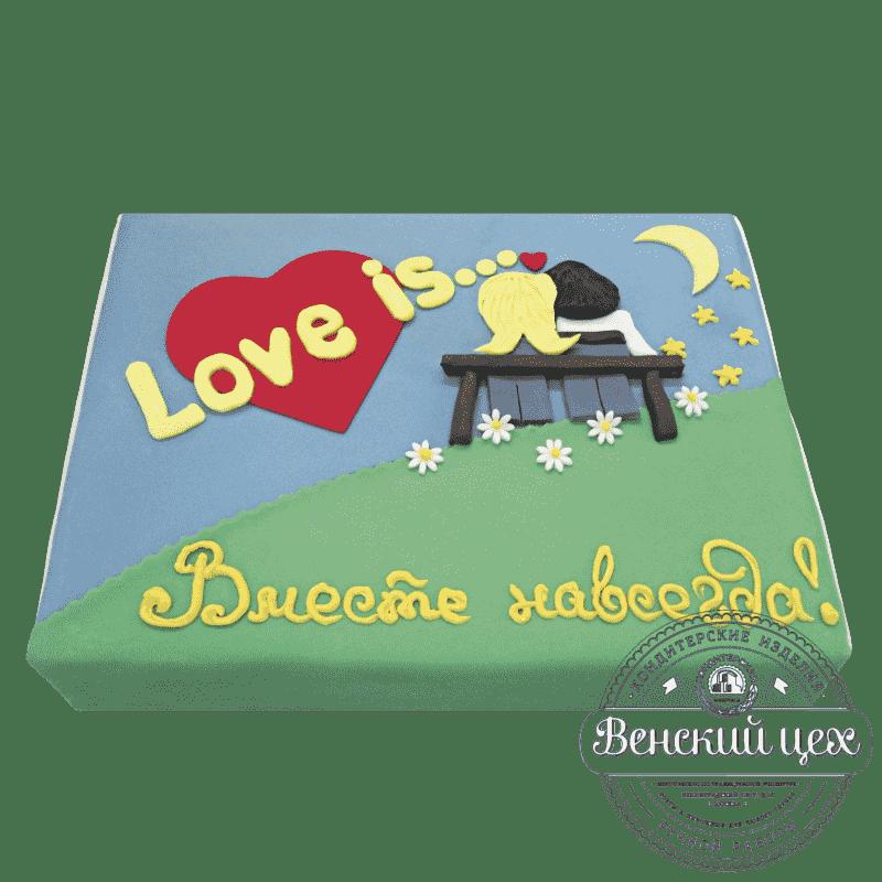 """Торт на годовщину """"Любовь это..."""" №9"""